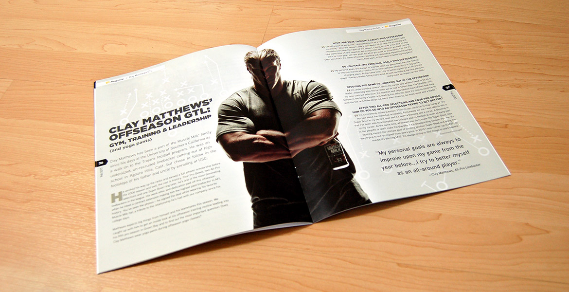 CQ Magazine 'Clay Matthews' spread