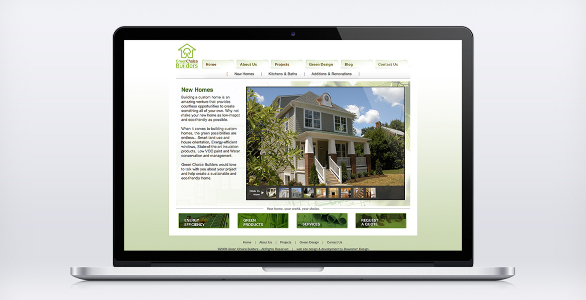 'Green Choice Builders 'Gallery' page