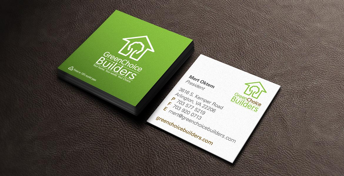 'Green Choice Builders business cards