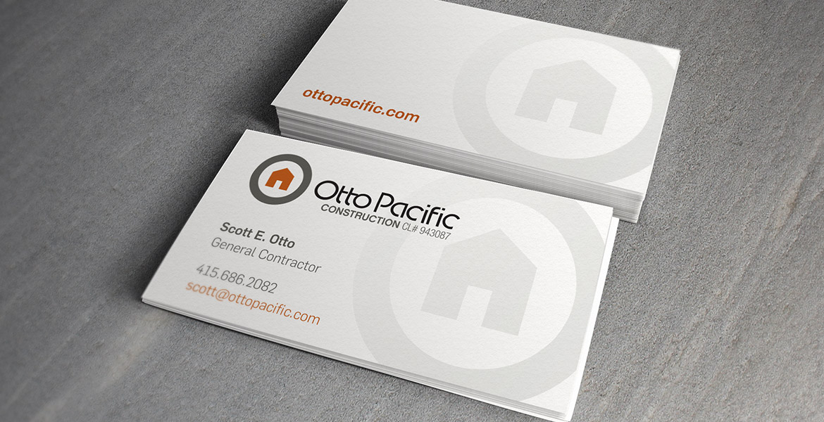 'Otto Pacific Construction business cards