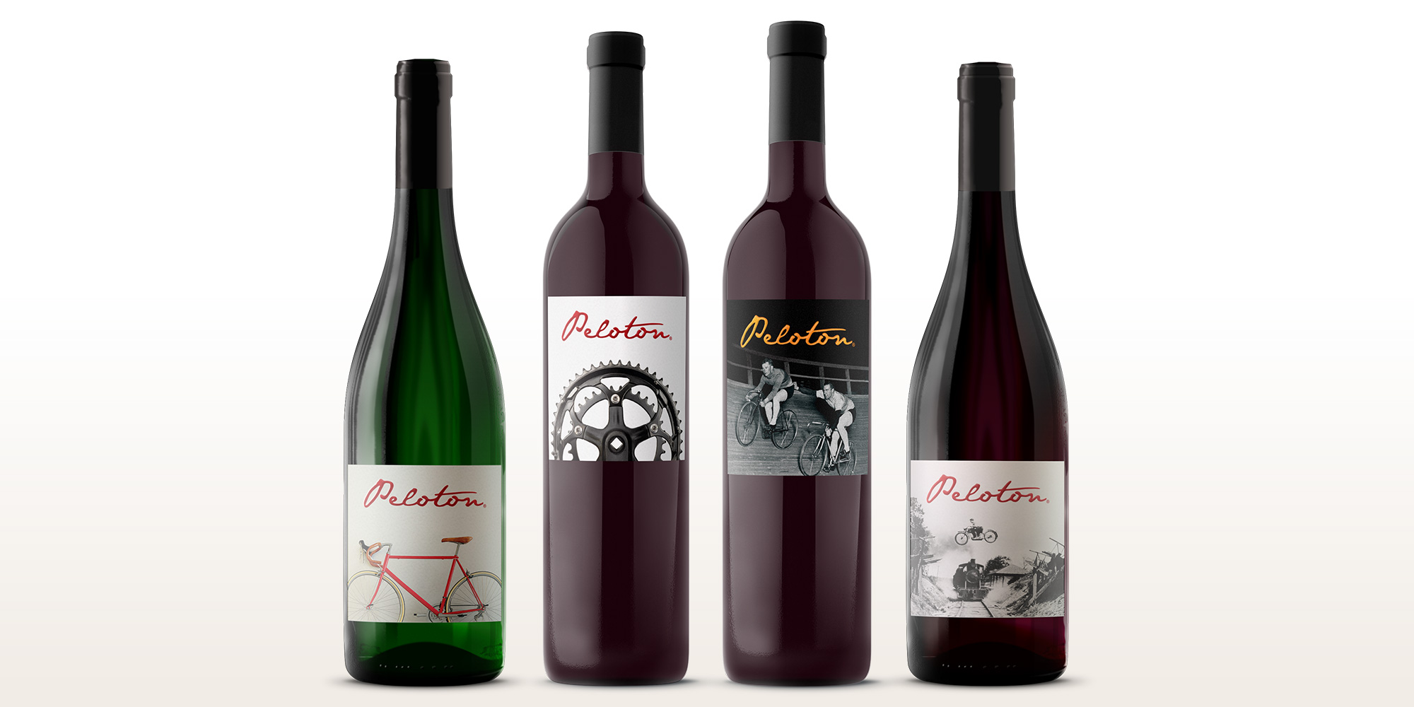 Peloton Cellars wine bottle overview