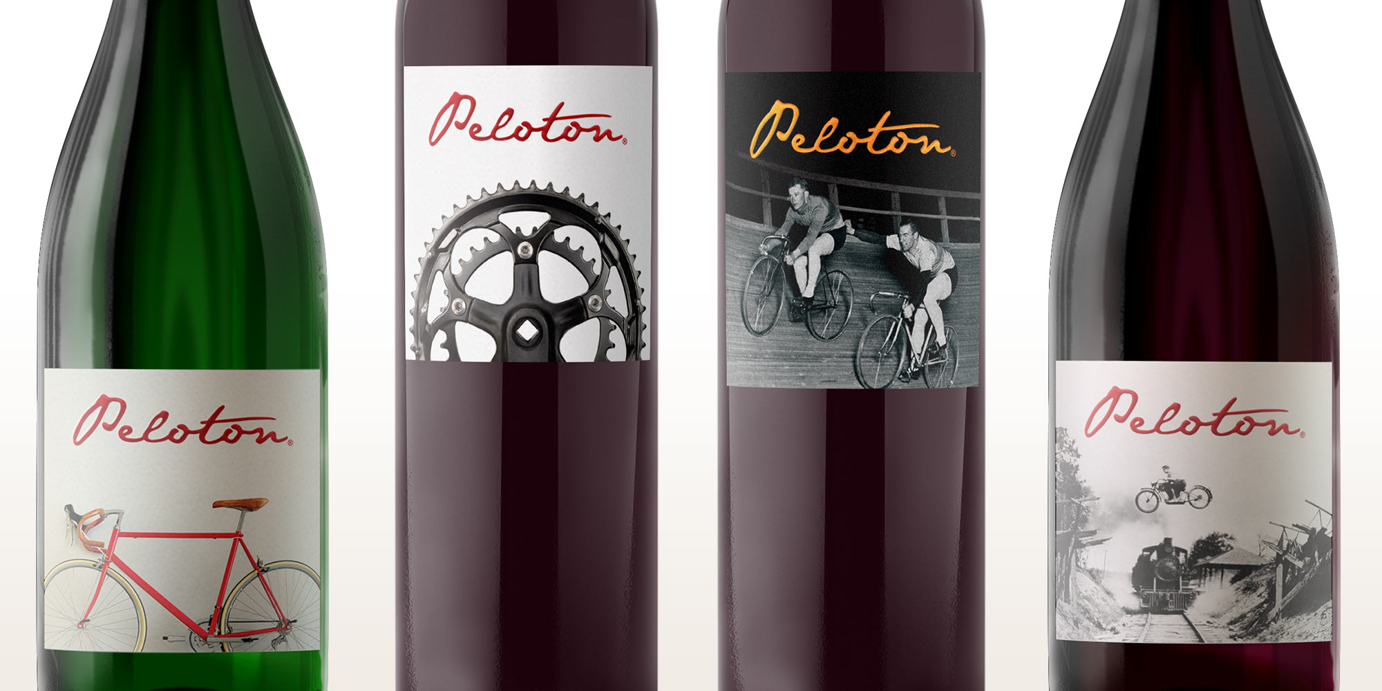 Peloton Cellars wine bottle detail