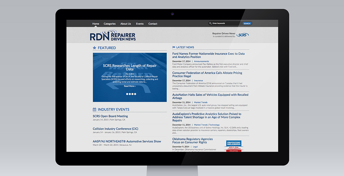 SCRS 'Repairer Driven News' Home page